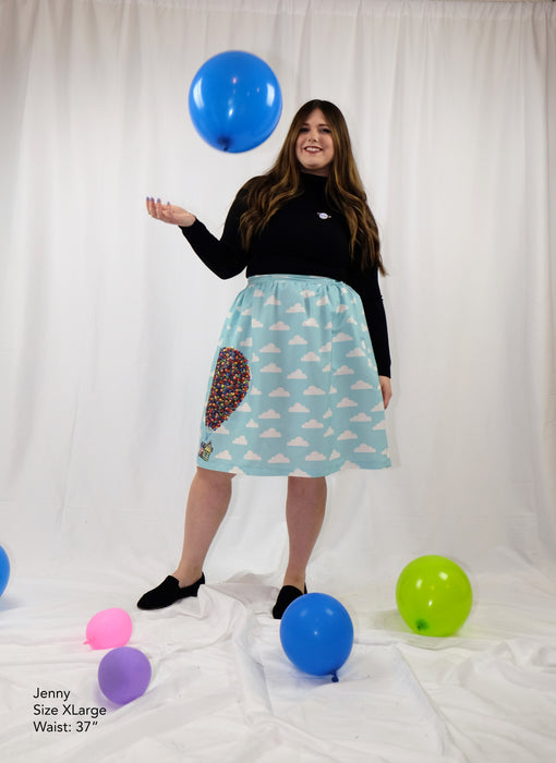 Adventure is Out There Disney Up NEW Skirt with Pockets