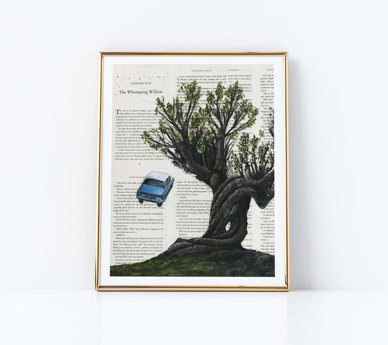 "11"" x 14"" Paper Print of The Whomping Willow from Harry Potter"