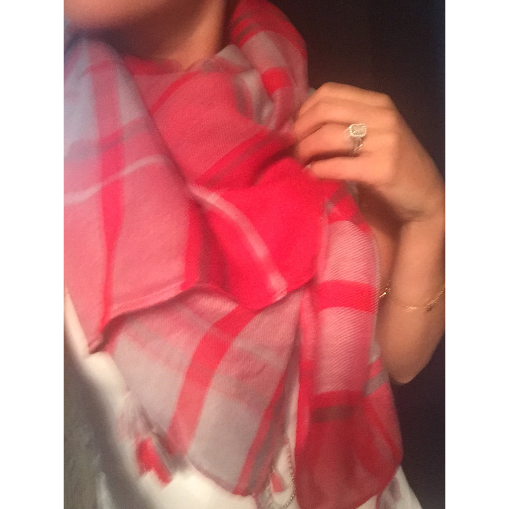 Scarlett and grey light scarf,(product_type), (product description) - boutique clothing, peace Love and royalty boutique