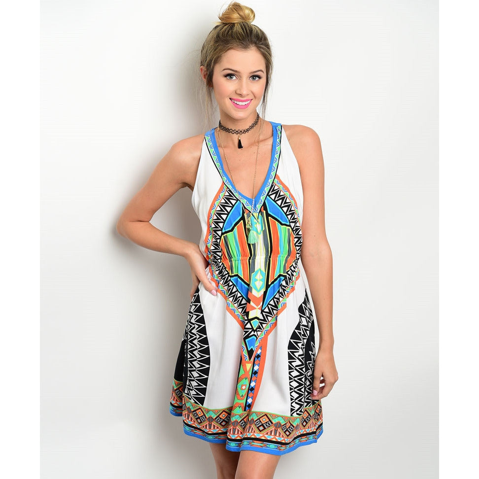 Aztec Summer Dress,(product_type), (product description) - boutique clothing, peace Love and royalty boutique