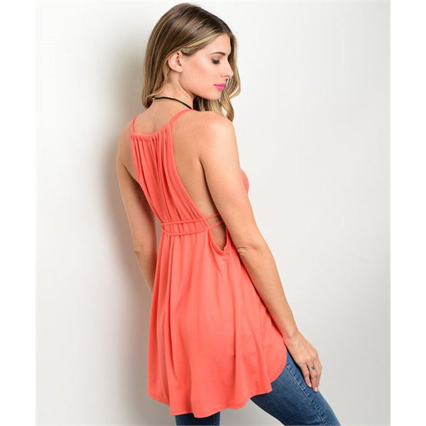 Orange Strappy Tank,(product_type) - boutique clothing, peace Love and royalty boutique