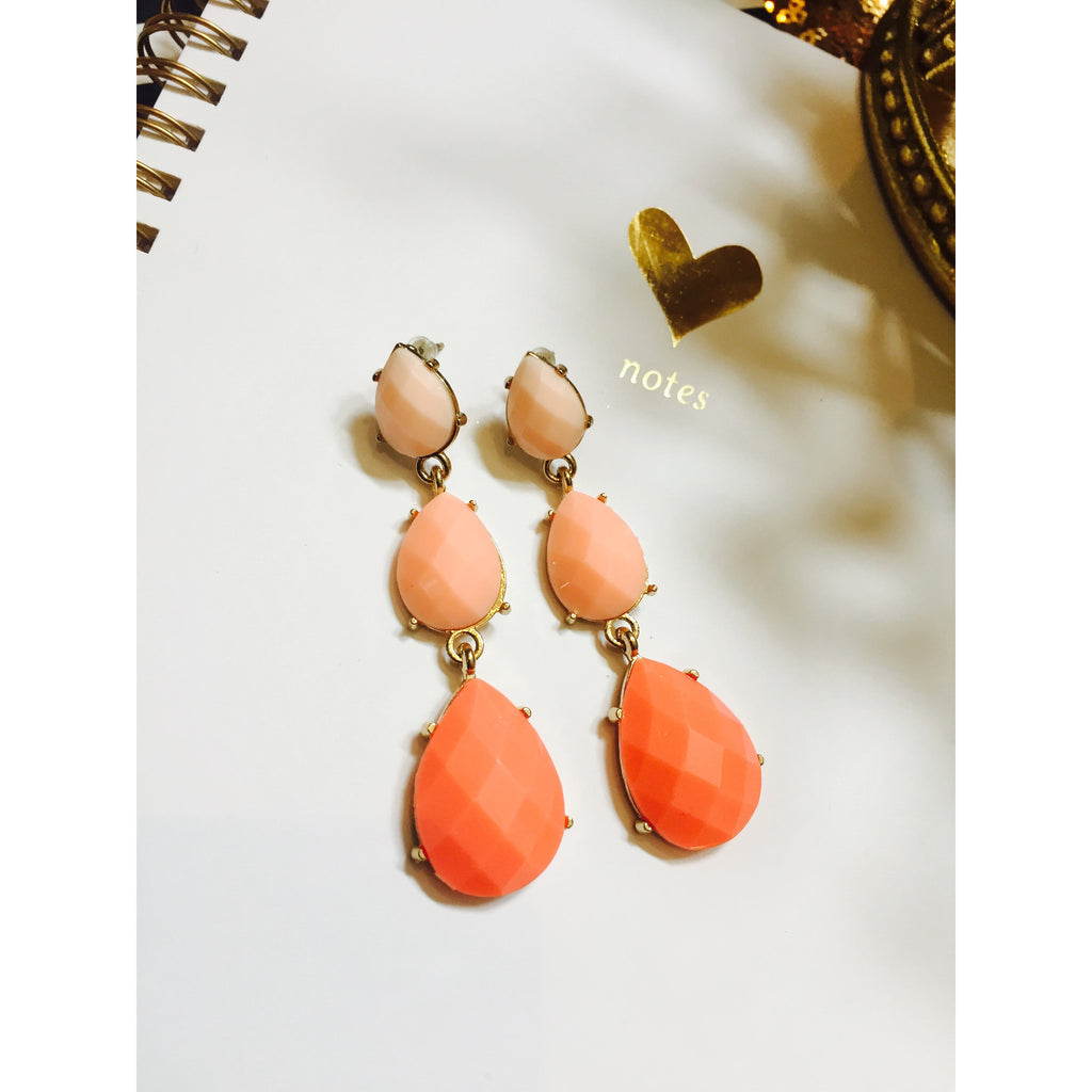 Ombre Tear Drop Earrings,(product_type), (product description) - boutique clothing, peace Love and royalty boutique