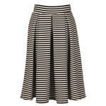 Out to Tea Striped Skirt