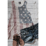 Studded American Flag Tank Top,(product_type), (product description) - boutique clothing, peace Love and royalty boutique