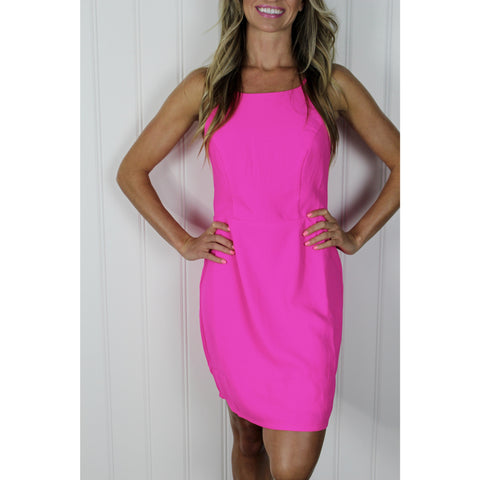 Neon Pink Cut Out Mini