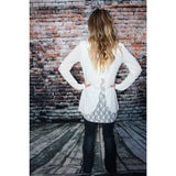 Lacey Back Sweater,(product_type), (product description) - boutique clothing, peace Love and royalty boutique