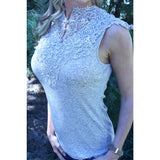 Lace Mock Turtleneck,(product_type), (product description) - boutique clothing, peace Love and royalty boutique