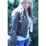 Olive Green Bomber Jacker,(product_type), (product description) - boutique clothing, peace Love and royalty boutique