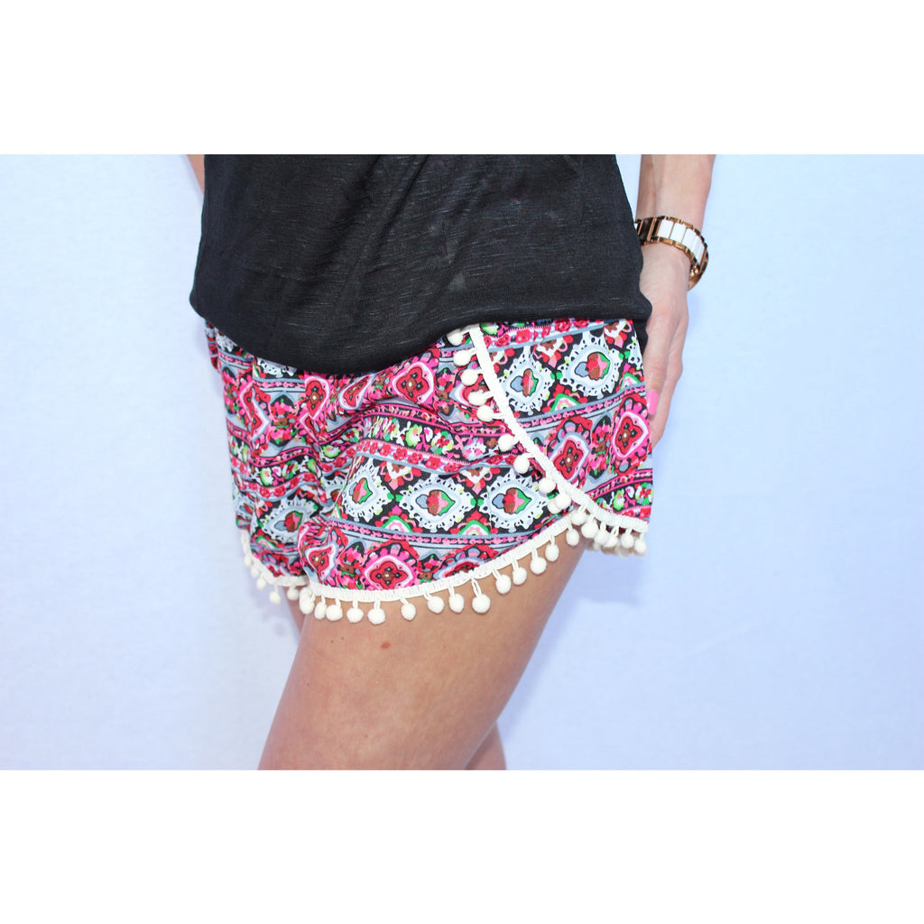 So Chic Bohemian shorts,(product_type), (product description) - boutique clothing, peace Love and royalty boutique