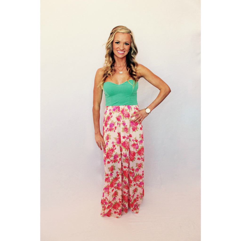 Minty Strapless Maxi,(product_type), (product description) - boutique clothing, peace Love and royalty boutique