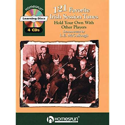 121 Favorite Irish Session Tunes: Performed on Tinwhistle by L.E. McCullough