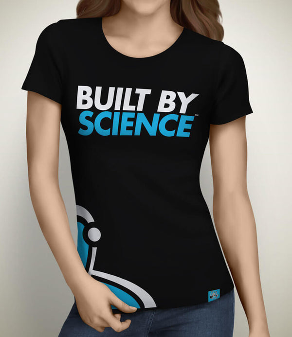Built By Science Women's Gym Tshirt - Black