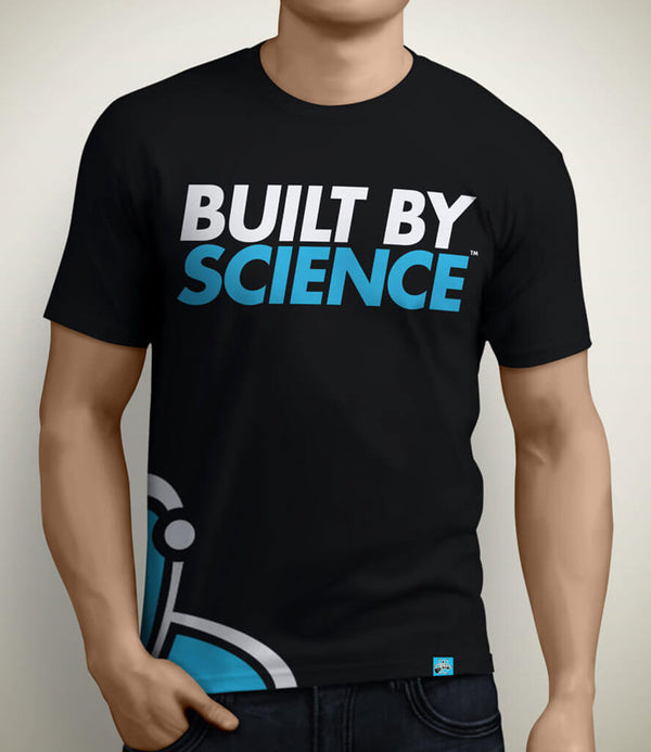 Built By Science Men's Tshirt - Black