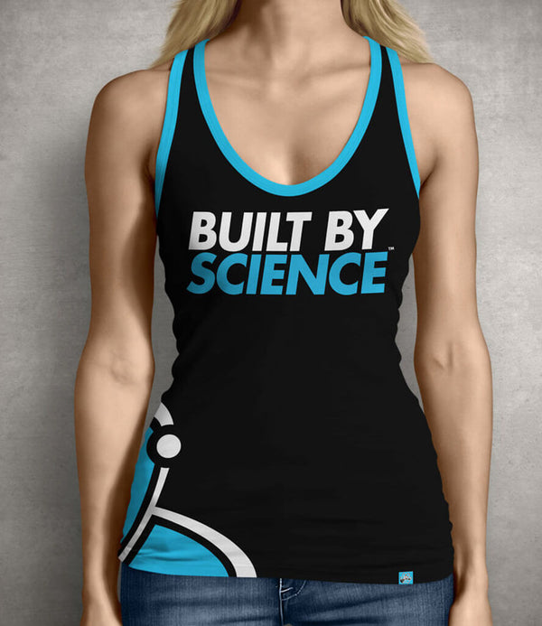 Built By Science Women's Gym Tank Top - Black