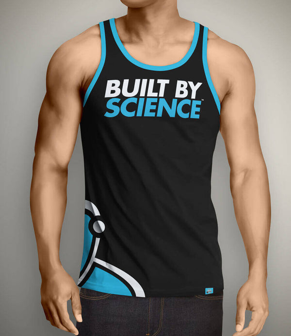 Built By Science Men's Gym Tank Top - Black