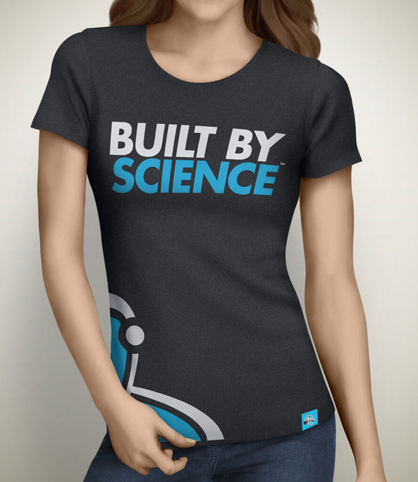 Built By Science Women's Gym Tshirt - Charcoal Gray