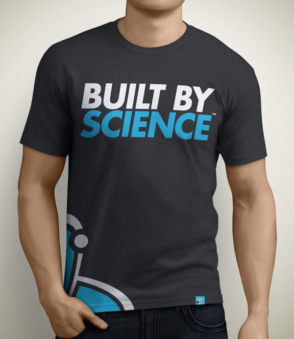 Built By Science Men's Gym Tshirt - Charcoal Gray