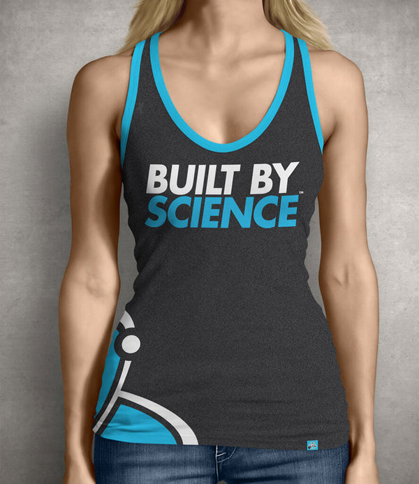 Built By Science Women's Gym Tank Top - Charcoal Gray