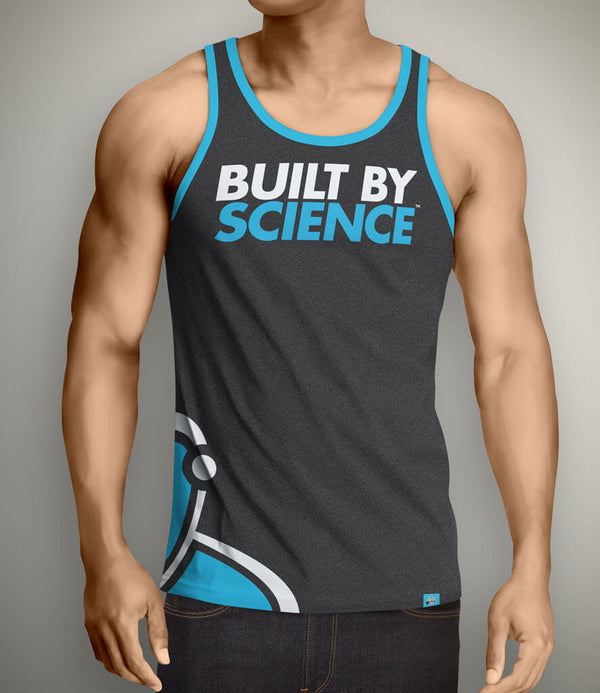 Built By Science Men's Gym Tank Top - Charcoal Gray