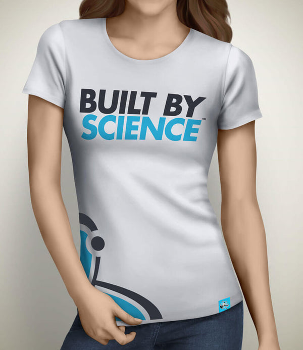 Built By Science Women's Gym Tshirt - White