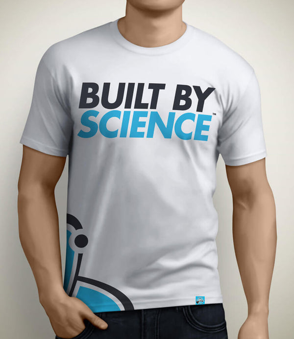 Built By Science Men's Gym Tshirt - White