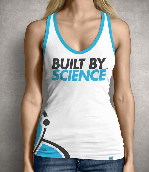 Built By Science Women's Gym Tank Top - White