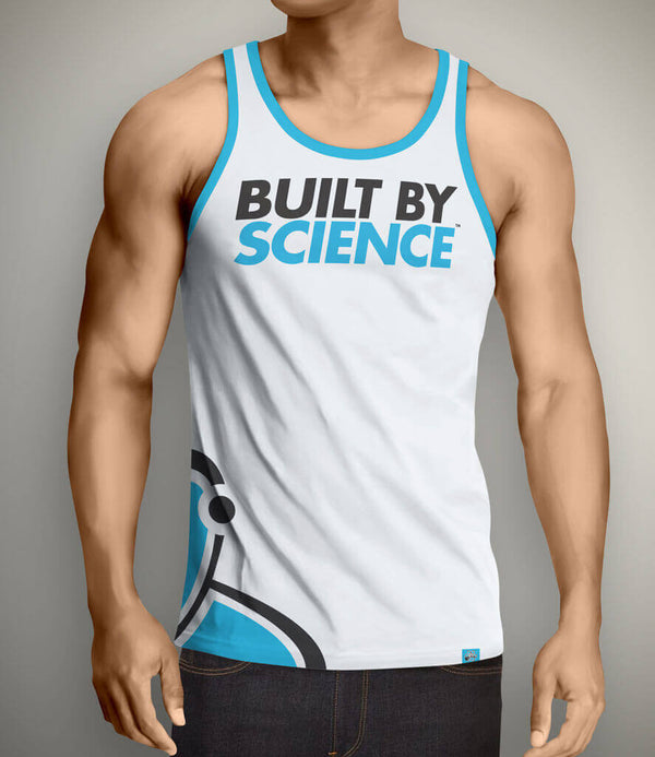 Built By Science Men's Tank Top - White