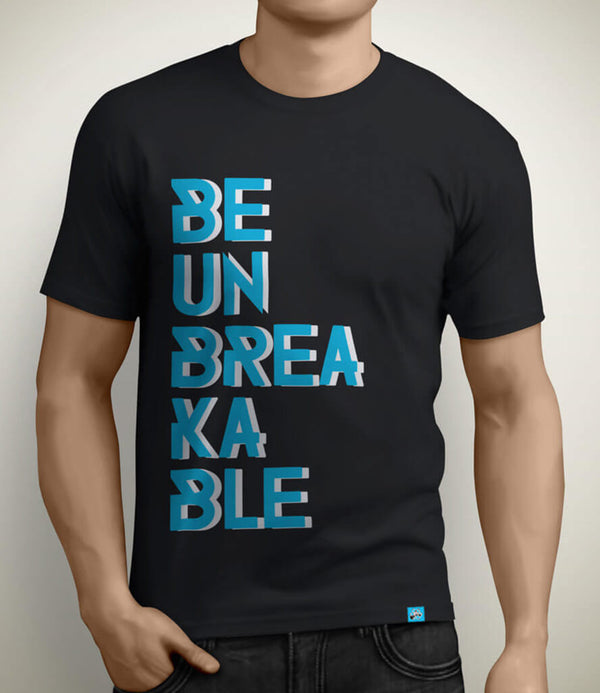 Be Unbreakable Men's Gym Tshirt - Black