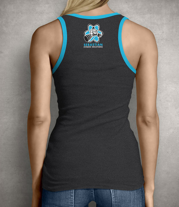 Be Unbreakable Women's Gym Tank Top - Charcoal Gray