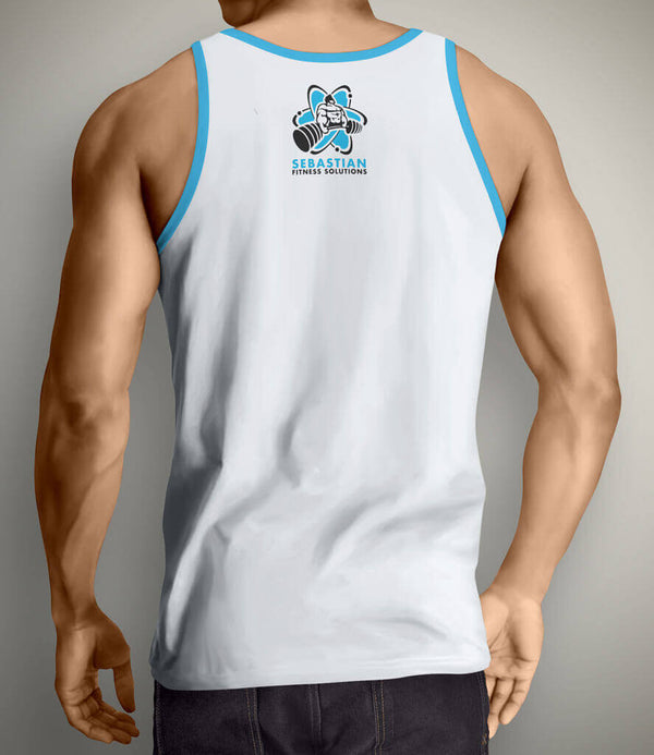Be Unbreakable Men's Gym Tank Top - White