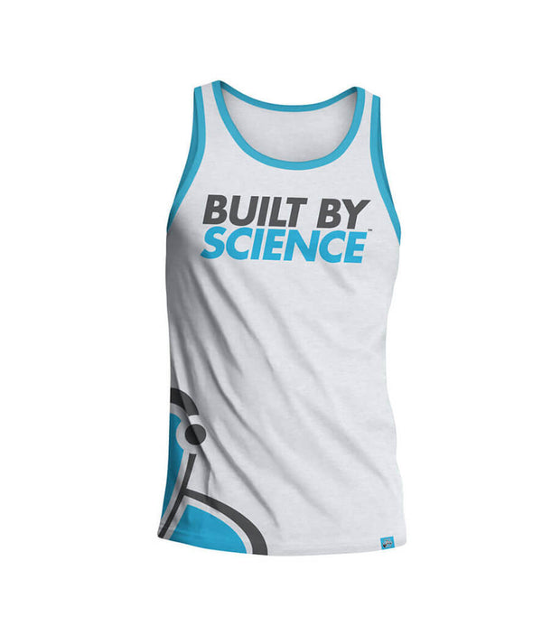 Built By Science Men's Gym Tank Top - White