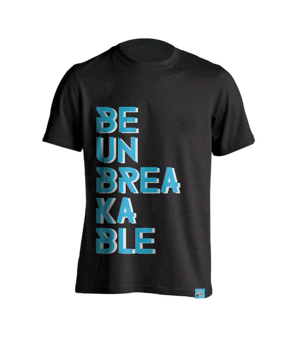 Be Unbreakable Women's Gym Tshirt - Charcoal Gray