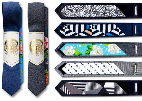 International Next of Kin_INK_Tongue & Tail Ties_Neckties_Skinny Ties