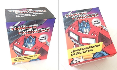 Transformers Light-Up Optimus Prime Bust & Book - Cyber City Comix