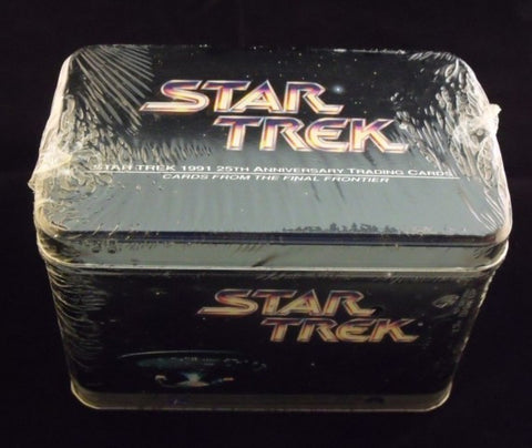 Star Trek 1991 25th Anniversary Trading Cards Sealed Tin - Cyber City Comix