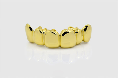 Plane Solid Yellow Gold Grillz