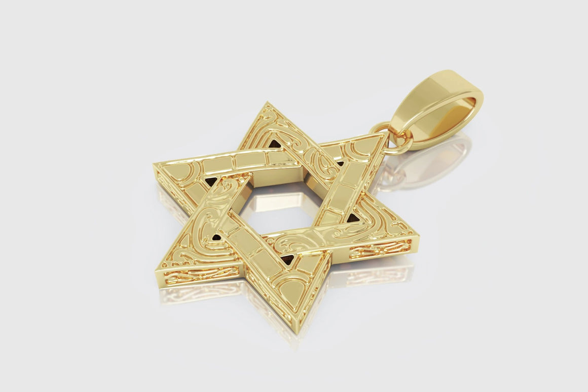 Star of David Pendant Yellow Gold