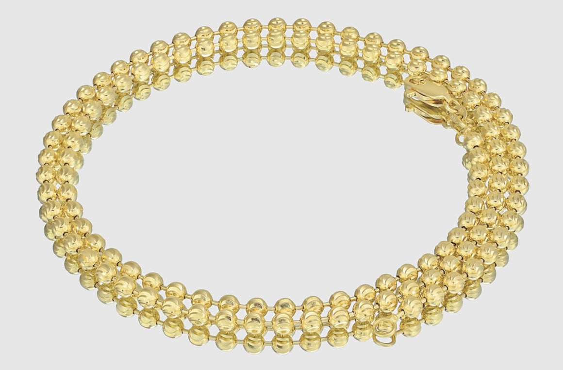 Ball Bead Chain 14K Yellow Gold
