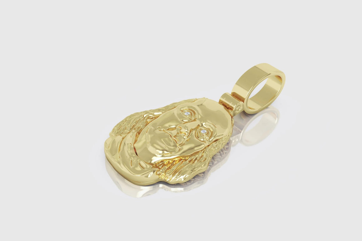 Benjamin Franklin Pendant 14K Yellow Gold