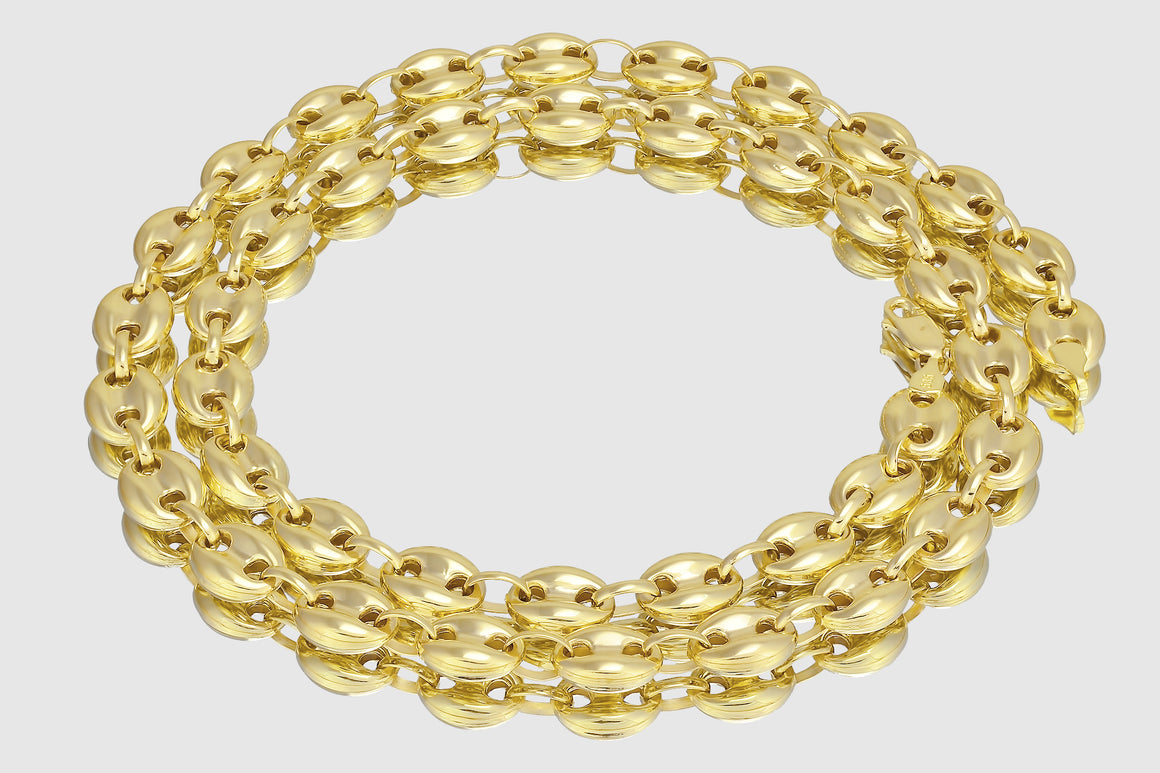 Gucci Mariner Puffed Chain 14K Yellow Gold