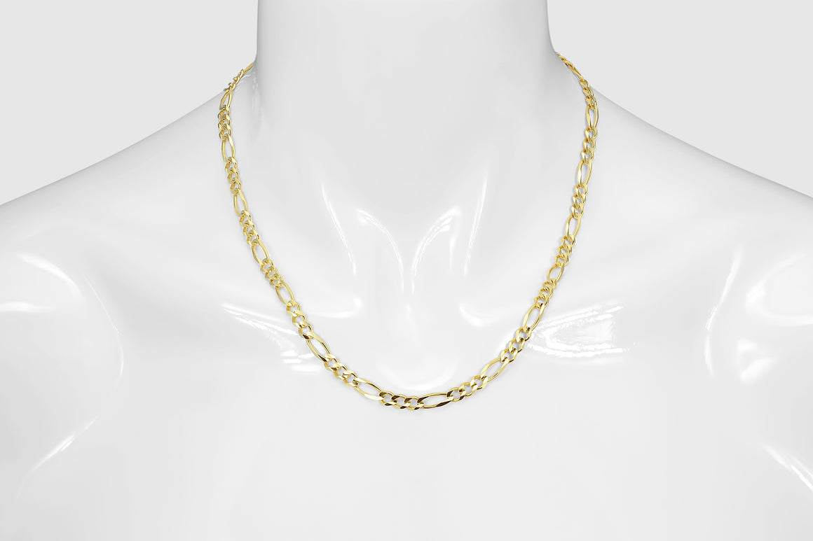 Figaro Chain 10K Yellow Gold