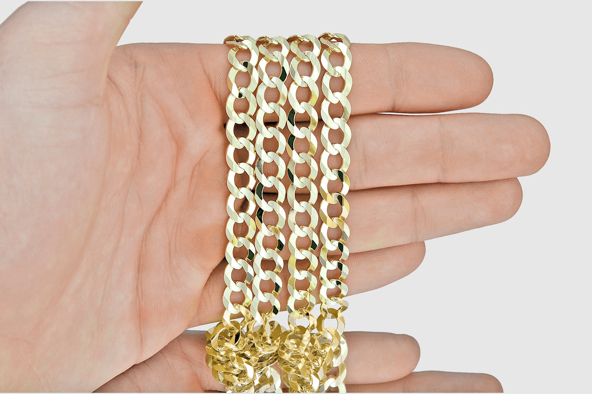 Cuban Curb Chain 14K Yellow Gold