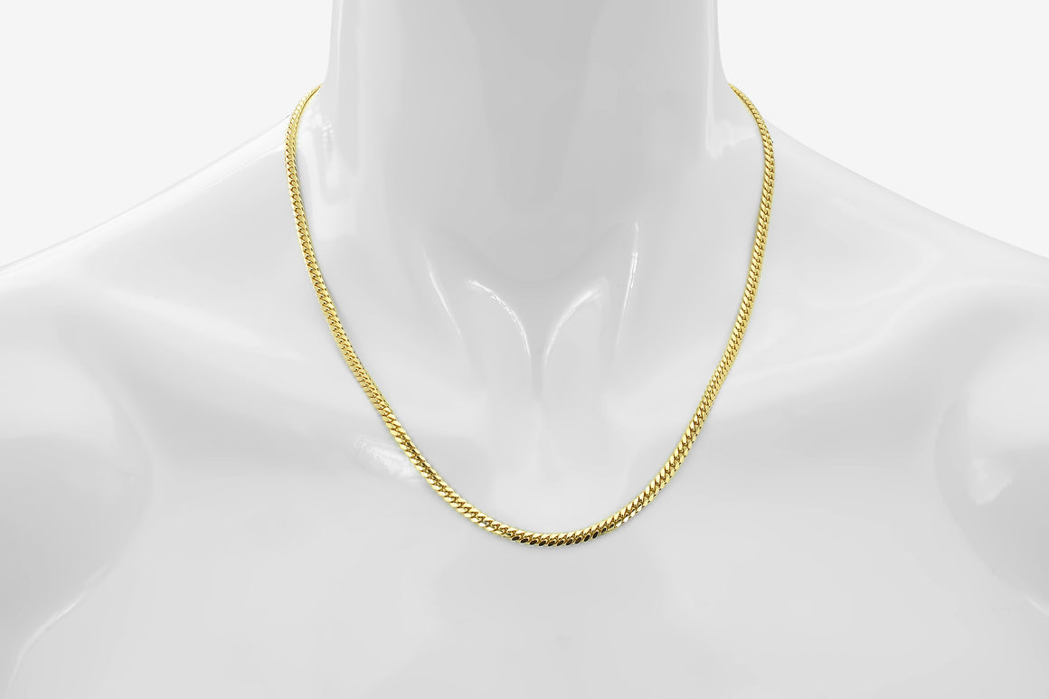 Miami Cuban 10K Solid Yellow Gold Chain