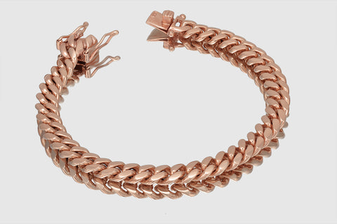 9mm Thick Miami Cuban Solid Gold Bracelet