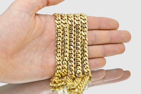 9mm Miami Cuban Solid Gold Necklace
