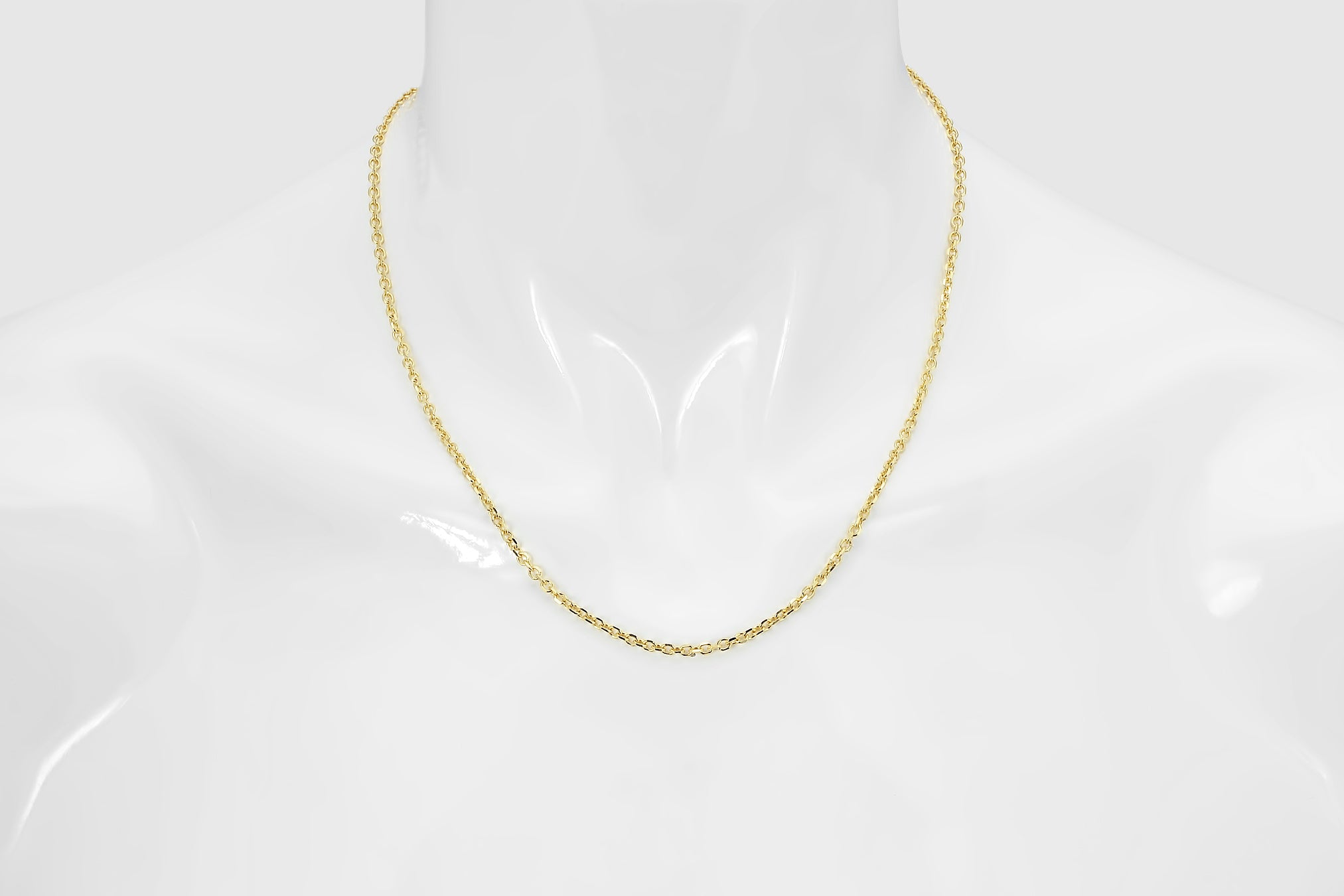 14Kt Gold Cable Chain With Lobster Lock Cable Chain 20 Inches Long