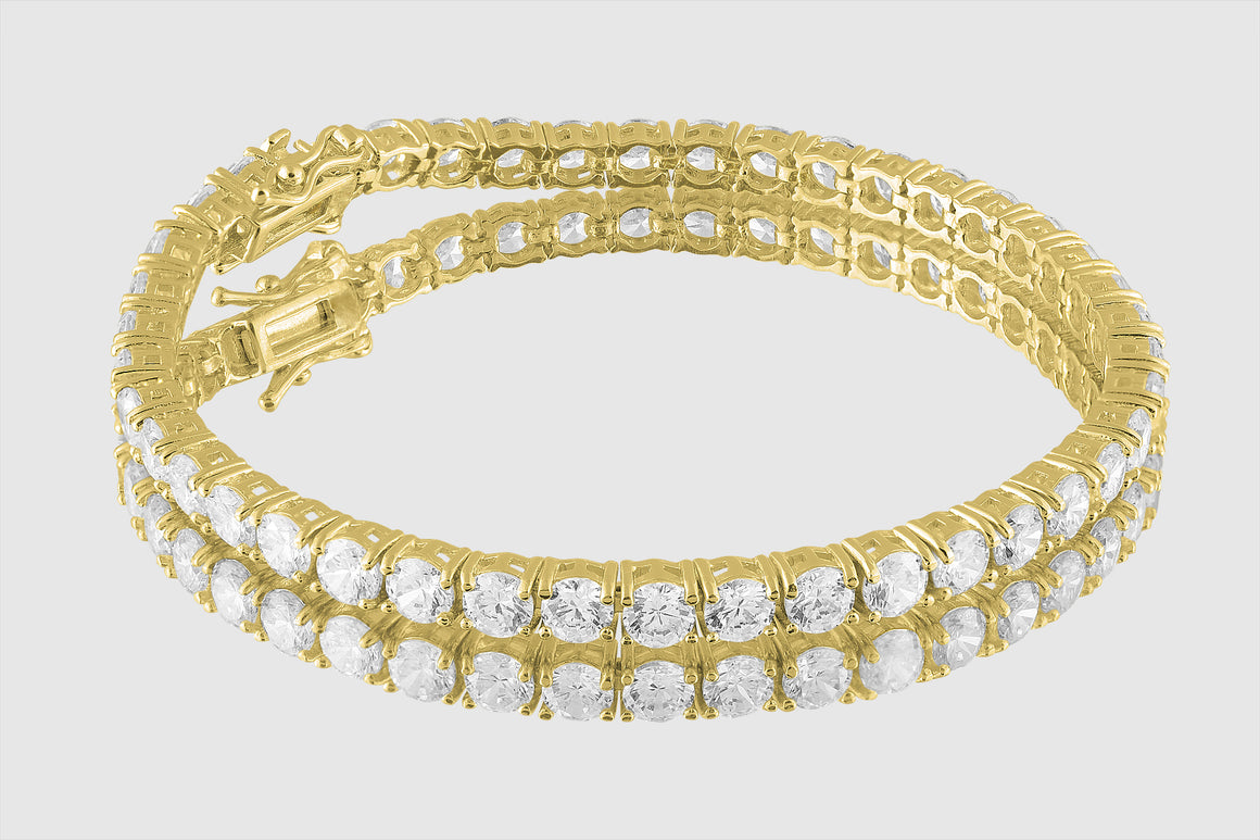 3mm 14k or 18k Gold 5ct Diamond Tennis Bracelet