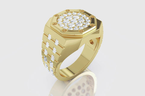 AP Baguette Ring 18K Yellow Gold