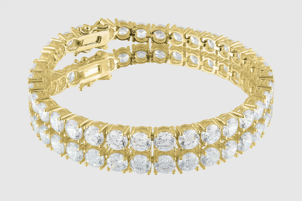 4mm 14k or 18k Gold 10ct Diamond Tennis Bracelet