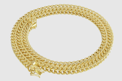 6mm Miami Cuban Chain 14K Yellow Gold